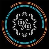 Muestra del por ciento del descuento, porcentaje de la venta del vector libre illustration