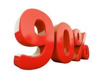 Muestra del 90 por ciento roja aislada Imágenes de archivo libres de regalías