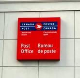 Muestra del poste de Canadá Foto de archivo libre de regalías