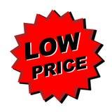 Muestra del precio bajo Imagen de archivo