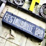 Restaurante abandonado Foto de archivo