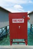 Muestra del punto del fuego en la casa de planta baja Imagen de archivo libre de regalías