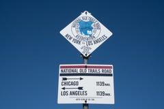 Muestra del punto mediano de Route 66 Imagen de archivo libre de regalías