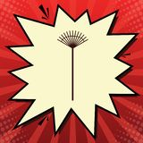 Muestra del rastrillo del césped Vector Icono rojo oscuro en burbuja del obturador de la gasa del limón en el fondo rojo del popa ilustración del vector