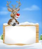 Muestra del reno de la Navidad de la historieta Foto de archivo