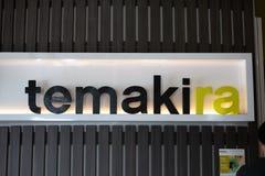 Muestra del restaurante de Temakira fotos de archivo libres de regalías
