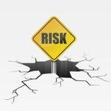 Muestra del riesgo de la grieta Imagen de archivo