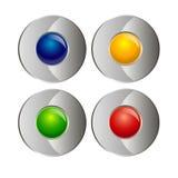 Muestra del símbolo abstracto del círculo del diseño del vector del icono Imagenes de archivo