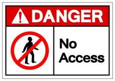 Muestra del símbolo del acceso del peligro, ejemplo del vector, aislante en la etiqueta blanca del fondo EPS10 libre illustration