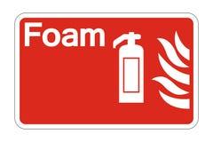 muestra del símbolo de la seguridad contra incendios de la espuma del símbolo en el fondo blanco, ejemplo del vector libre illustration