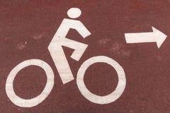 Muestra del símbolo de los ciclistas Fotos de archivo libres de regalías