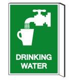 Muestra del s?mbolo del agua potable, ejemplo del vector, aislante en la etiqueta blanca del fondo EPS10 libre illustration