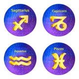 Muestra del sagitario del zodiaco, Capricornio, acuario, Piscis libre illustration