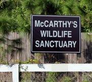 Muestra del santuario de fauna del ` s de McCarthy Foto de archivo