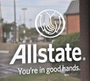 Muestra del seguro de Allstate fotos de archivo libres de regalías