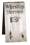Muestra del servicio de la adoración Fotos de archivo
