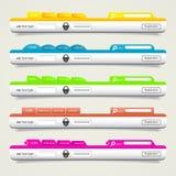 Muestra del sitio web del icono del diseño web de los elementos libre illustration