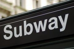 Muestra del subterráneo de New York City Imagenes de archivo