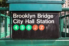 Muestra del subterráneo de NYC Imagen de archivo