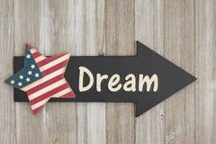 Muestra del sueño americano imágenes de archivo libres de regalías