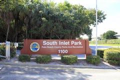 Muestra del sur del parque de la entrada Imágenes de archivo libres de regalías