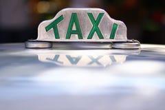 Muestra del taxi foto de archivo libre de regalías
