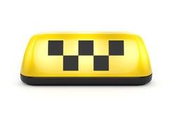 Muestra del taxi con los cuadrados Foto de archivo libre de regalías