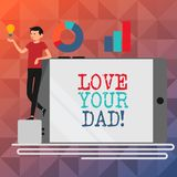 Muestra del texto que muestra a amor su papá La foto conceptual tiene buenas sensaciones sobre sus emociones de amor del padre libre illustration