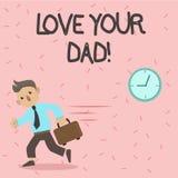 Muestra del texto que muestra a amor su papá La foto conceptual tiene buenas sensaciones sobre sus emociones de amor del padre stock de ilustración