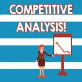 Muestra del texto que muestra análisis competitivo Técnica estratégica de la foto conceptual usada para evaluar fuera de compe ilustración del vector