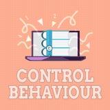 Muestra del texto que muestra comportamiento de control Ejercicio conceptual de la foto de la influencia y de la autoridad sobre  libre illustration