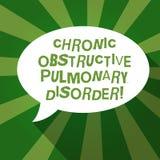 Muestra del texto que muestra desorden pulmonar obstructor crónico El tratamiento médico de la enfermedad conceptual de la foto r stock de ilustración