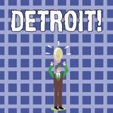 Muestra del texto que muestra Detroit Ciudad conceptual de la foto en la capital de los Estados Unidos de América del hombre de n libre illustration