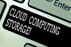 Muestra del texto que muestra el almacenamiento de Cloud Computing Los datos digitales de la foto conceptual se almacenan en pisc fotografía de archivo