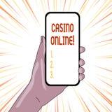 Muestra del texto que muestra el casino en l?nea Los jugadores conceptuales de la foto pueden jugar y apuesta en juegos del casin libre illustration