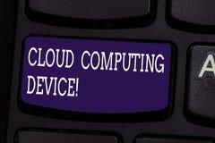 Muestra del texto que muestra el dispositivo de Cloud Computing La foto conceptual compartió piscinas del recurso configurable de fotografía de archivo