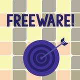 Muestra del texto que muestra el Freeware Aplicación de software conceptual de la foto que está disponible para el uso en ningún  stock de ilustración