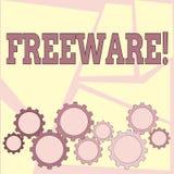 Muestra del texto que muestra el Freeware Aplicación de software conceptual de la foto que está disponible para el uso en ningún  ilustración del vector