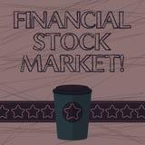 Muestra del texto que muestra el mercado de acción financiero Foto conceptual que muestra las seguridades financieras comerciales ilustración del vector