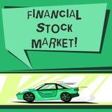 Muestra del texto que muestra el mercado de acción financiero Foto conceptual que muestra las seguridades financieras comerciales libre illustration