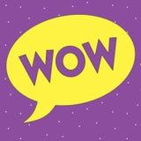 Muestra del texto que muestra el wow La foto conceptual que expresa éxito histórico del asombro y del temor excita alguien grande ilustración del vector