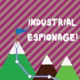 Muestra del texto que muestra espionaje industrial E stock de ilustración