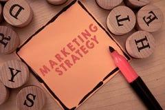 Muestra del texto que muestra estrategia de marketing Esquema conceptual de la foto en cómo presentar negocio de servicios de los imagen de archivo libre de regalías