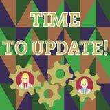 Muestra del texto que muestra hora de ponerse al d?a La foto conceptual esto es momento correcto para hacer algo un nuevo negocio ilustración del vector