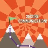 Muestra del texto que muestra la comunicación segura Foto conceptual que evita que los interceptores desautorizados tengan acceso ilustración del vector