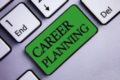 Muestra del texto que muestra la planificación de la carrera La estrategia educativa Job Growth Text del desarrollo profesional c Fotografía de archivo libre de regalías