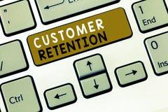 Muestra del texto que muestra la retención del cliente La foto conceptual que guarda a clientes fieles conserva muchos como sea p foto de archivo libre de regalías