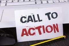 Muestra del texto que muestra llamada a la acción Foto conceptual la mayoría de la parte importante de la campaña de marketing di Fotos de archivo