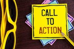 Muestra del texto que muestra llamada a la acción Foto conceptual la mayoría de la parte importante de la campaña de marketing di Imagen de archivo libre de regalías