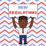 Muestra del texto que muestra nuevas regulaciones Regulaci?n conceptual de la foto que controla la actividad usada generalmente p libre illustration